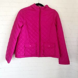 [Children's Place] Pink quilted hooded jacket XL